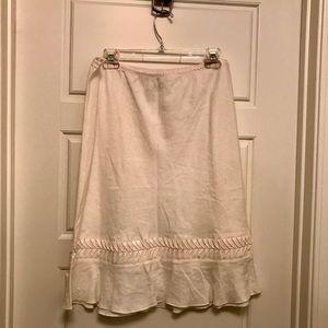 Studio M Linen Skirt Size Large